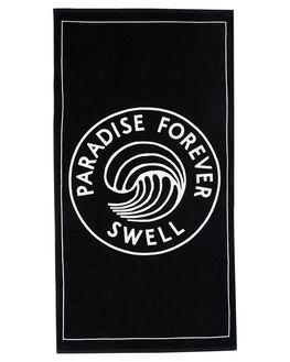BLACK OUTLET MENS SWELL TOWELS - S51841801BLK