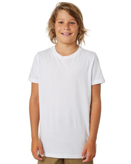 WHITE KIDS BOYS AS COLOUR TOPS - 3006-WHT