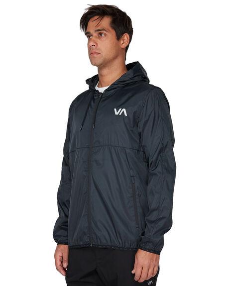 BLACK MENS CLOTHING RVCA JACKETS - RV-R393436-BLK