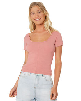 PINK WOMENS CLOTHING ALL ABOUT EVE TEES - 6413007PNK