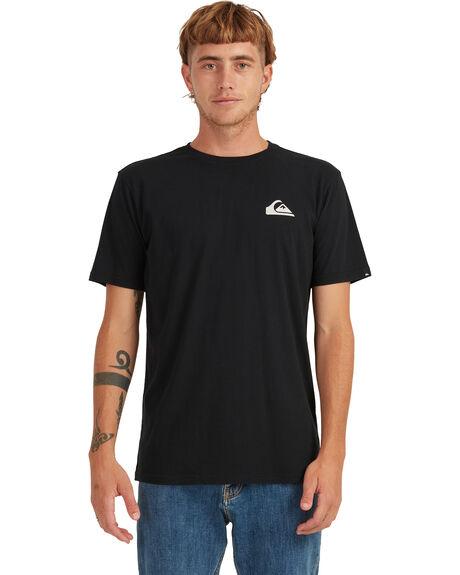 BLACK MENS CLOTHING QUIKSILVER TEES - UQYZT04494-KVJ0