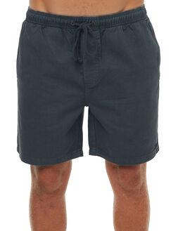 BLACK MENS CLOTHING AFENDS SHORTS - 09-06-020BLK