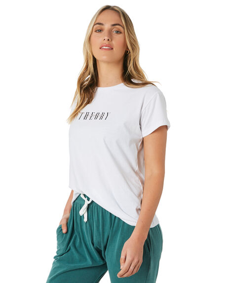 WHITE OUTLET WOMENS SILENT THEORY TEES - 6053001WHT