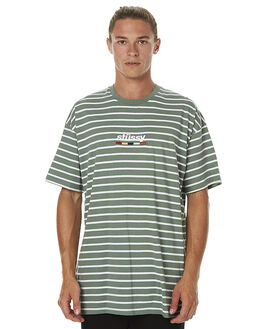 GREEN MENS CLOTHING STUSSY TEES - ST075103GRN