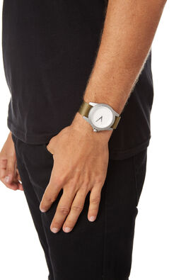 SILVER WHITE NATO MENS ACCESSORIES SIMPLE WATCH CO WATCHES - SW05-24SLVNT