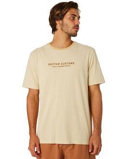 FADED YELLOW MENS CLOTHING RHYTHM TEES - APR19M-CT05-YEL