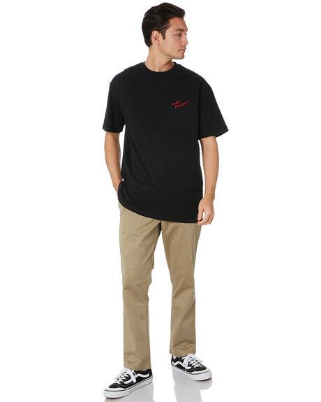 BLACK MENS CLOTHING GLOBE TEES - GB01810045BLK
