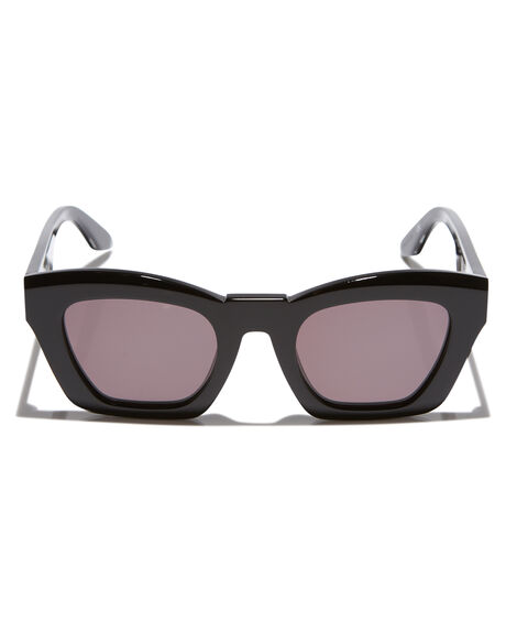 GLOSS BLACK WOMENS ACCESSORIES VALLEY SUNGLASSES - S0363GLBLK