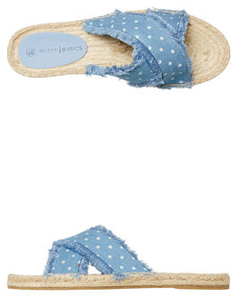 CHAMBRAY SPOT WOMENS FOOTWEAR BETTY BASICS FLATS - BB922T19CHAM