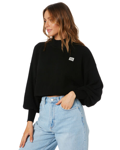 BLACK WOMENS CLOTHING LEE KNITS + CARDIGANS - L-000000-602BLK