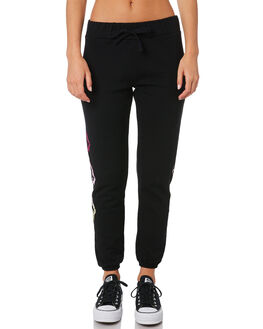 BLACK WOMENS CLOTHING VOLCOM PANTS - B1141807BLK