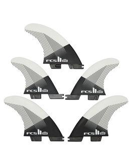 BLACK WHITE BOARDSPORTS SURF FCS FINS - FDHM-PC01-FS-RBLKWH