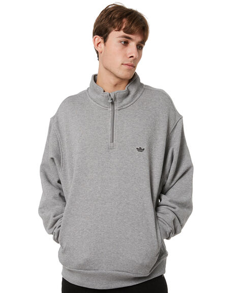 CORE HEATHER BLACK MENS CLOTHING ADIDAS JUMPERS - GL9944CHB
