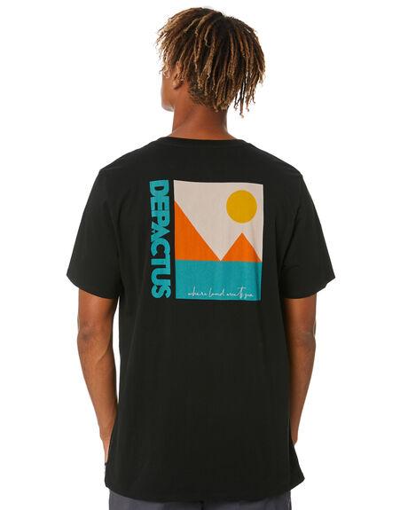 BLACK MENS CLOTHING DEPACTUS TEES - D5212004BLACK