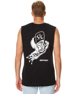 BLACK MENS CLOTHING SANTA CRUZ SINGLETS - SC-MTA7504BLK