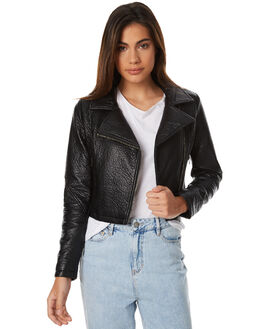 BLACK WOMENS CLOTHING SWELL JACKETS - S8172386BLK