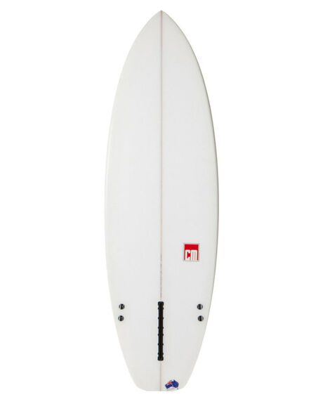 CLEAR WITH FIN BOX BOARDSPORTS SURF CLASSIC MALIBU SURFBOARDS - CLAMT3CLFIN