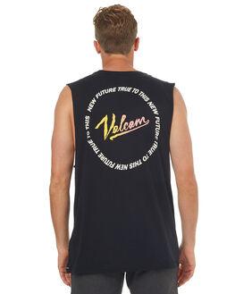 BLACK MENS CLOTHING VOLCOM SINGLETS - A3741771BLK