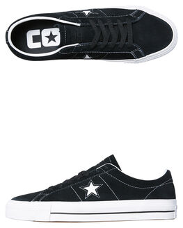BLACK WHITE MENS FOOTWEAR CONVERSE SKATE SHOES - SS159579BKWHM