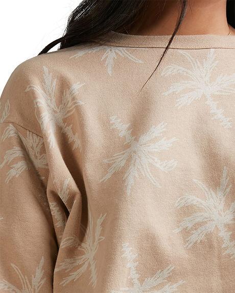BEIGE WOMENS CLOTHING BILLABONG HOODIES + SWEATS - 6518203-BEI