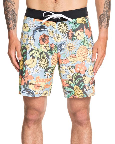 AIRY BLUE MENS CLOTHING QUIKSILVER BOARDSHORTS - EQYBS04283-BFA6
