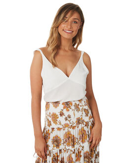 WHITE WOMENS CLOTHING TIGERLILY FASHION TOPS - T382041WHT