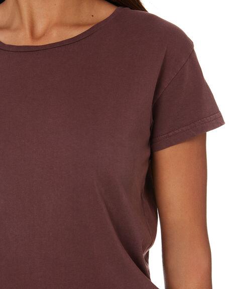 BURGANDY WOMENS CLOTHING SILENT THEORY TEES - 6015014BURG