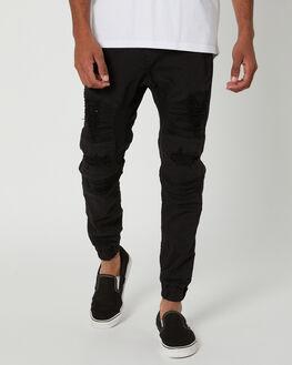 BLACK MENS CLOTHING NENA AND PASADENA PANTS - NPMHCP002BLK