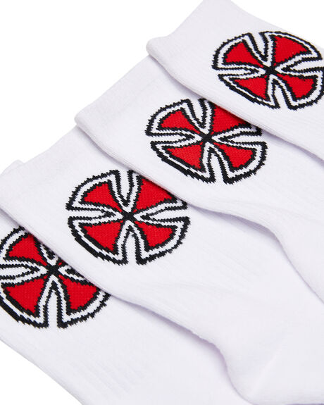 WHITE MENS CLOTHING INDEPENDENT SOCKS + UNDERWEAR - IN-MZC6079WHI