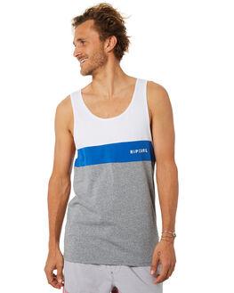 WHITE MENS CLOTHING RIP CURL SINGLETS - CTELR21000