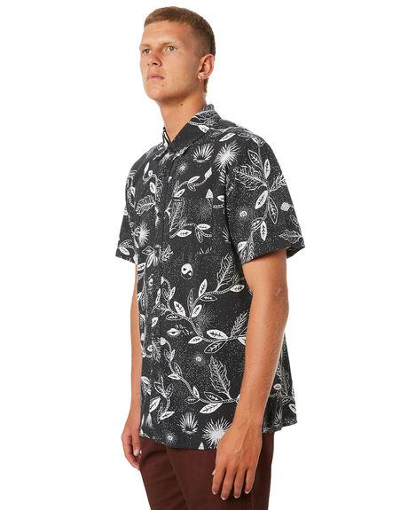 BLACK MENS CLOTHING VOLCOM SHIRTS - A0421801BLK