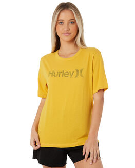 YELLOW OCHRE WOMENS CLOTHING HURLEY TEES - AH3358-700