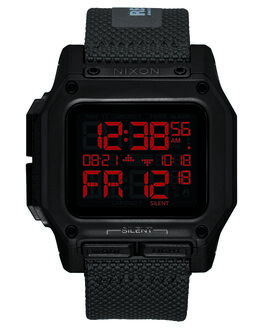 BLACK RED RECCO MENS ACCESSORIES NIXON WATCHES - A1180-3251BLKRD