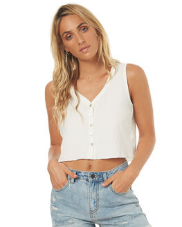 WHITE WOMENS CLOTHING SWELL FASHION TOPS - S8171277WHITE