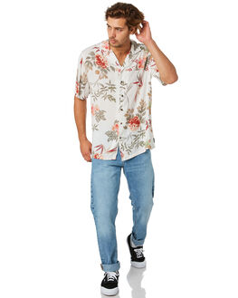 WHITE MENS CLOTHING RUSTY SHIRTS - WSM0966WHT