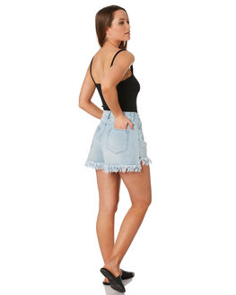 BLUE WASH WOMENS CLOTHING SWELL SHORTS - S8201200BLWSH