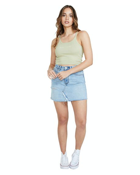 SAGE GREEN WOMENS CLOTHING SUBTITLED SINGLETS - 30661400022