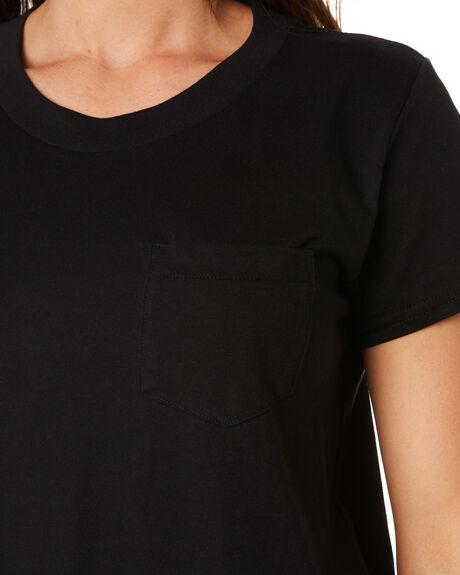 BLACK WOMENS CLOTHING AS COLOUR TEES - 4046BLK