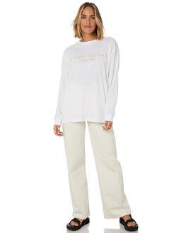 WHITE WOMENS CLOTHING STUSSY TEES - ST106006WHT