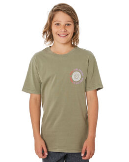 ARMY GREEN KIDS BOYS VOLCOM TOPS - C5241972ARC