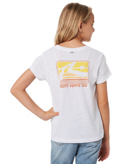 WHITE KIDS GIRLS RUSTY TOPS - TTG0005WHT