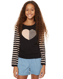 BLACK AND BLUSH KIDS GIRLS EVES SISTER JUMPERS - 9990021BLK