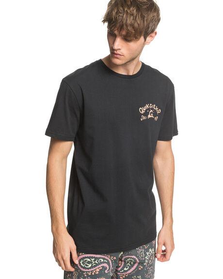 BLACK MENS CLOTHING QUIKSILVER TEES - EQYZT05761-KVJ0