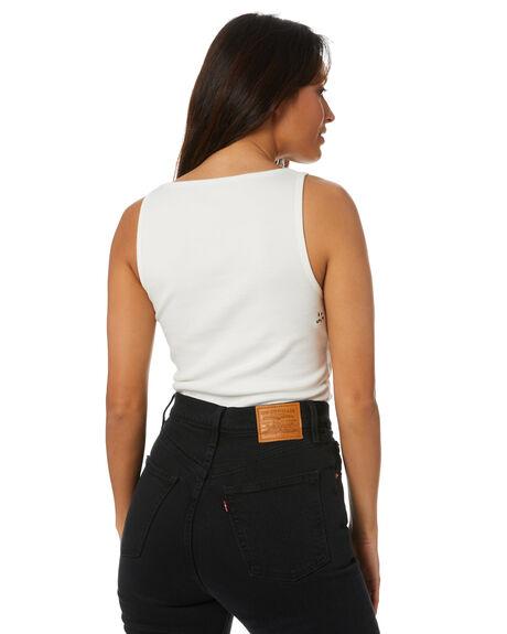 WHITE WOMENS CLOTHING MISFIT SINGLETS - MT101101WHT
