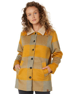 MUSTARD CHECK WOMENS CLOTHING SANTA CRUZ JACKETS - SC-WJA9793MUSTA