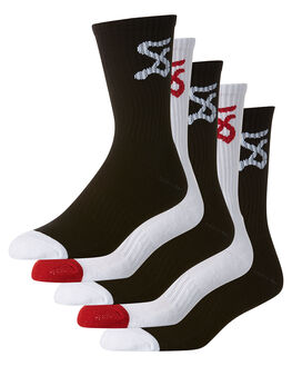 WHITE BLACK MENS ACCESSORIES SWELL SOCKS + UNDERWEAR - S51621691WHBK