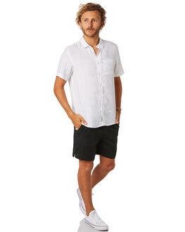 BLACK MENS CLOTHING ACADEMY BRAND SHORTS - 19S609BLK
