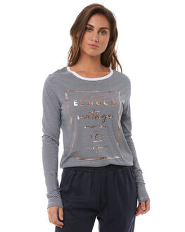 NAVY STRIPE WOMENS CLOTHING ELWOOD TEES - W82109JF6