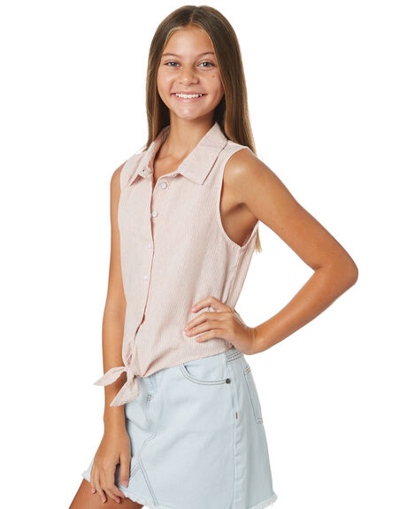PINK WHITE STRIPE KIDS GIRLS EVES SISTER TOPS - 9520020PKWTS
