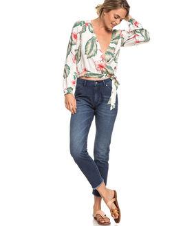 MM TROPICAL WOMENS CLOTHING ROXY FASHION TOPS - ERJWT03300-WBT7